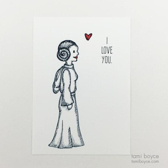 Star Wars I Leia Love Doodle Series Tami Boyce Tami