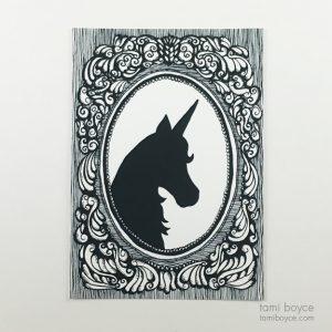 Unicorn Silhouette, Cameo Series