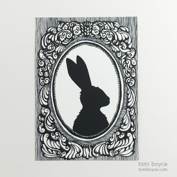 Rabbit Silhouette, Cameo Series