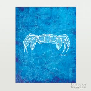 Crab, Aquatic Series, Charleston Nautical Map