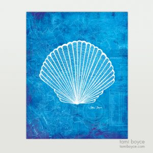 Seashell, Aquatic Series, Charleston Nautical Map