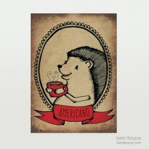 Hedgehog with Americano