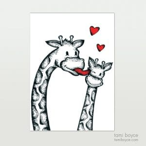 Giraffes, Wet Kisses, Love Doodle