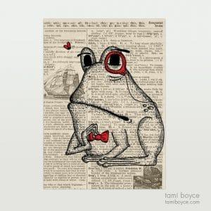 """Frog, """"Vernon"""", Monocle"""