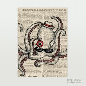 "Octopus, ""Oscar"", Monocle"