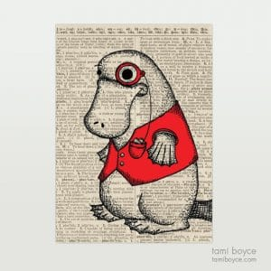 """Platypus, """"Reginald"""", Monocle"""