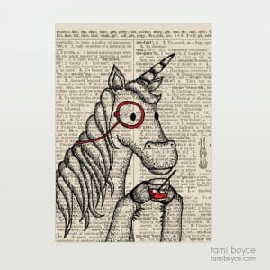 "Unicorn, ""Ernest"", Monocle"