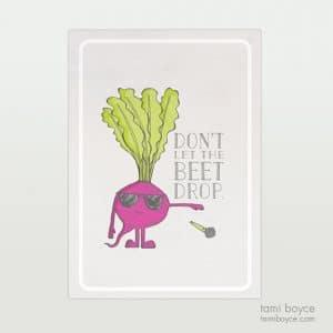 Beet Drop, Food Pun