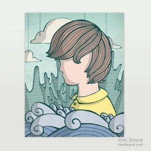 boy with waves