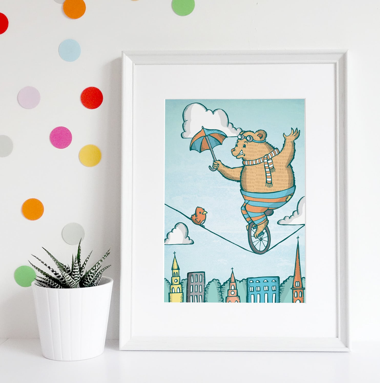 bear with umbrella styled