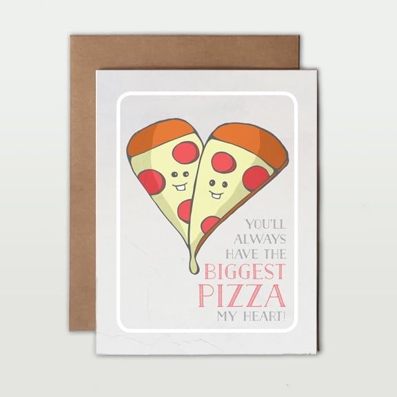 Love Pun Greeting Cards pizza