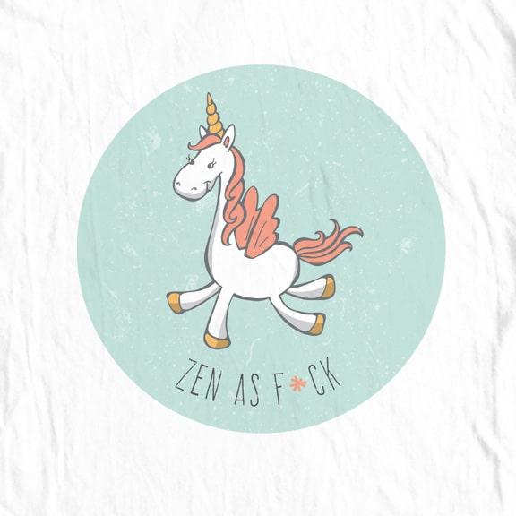 Unicorn, Zen as F*ck T-Shirt
